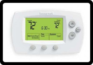 AC programmable thermostat